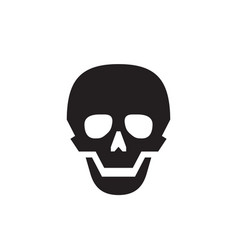 Skull - black icon on white background vector