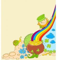 St Patrick's leprechaun vector