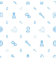 strategy icons pattern seamless white background vector image