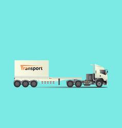 trailer truck tow truck vector image