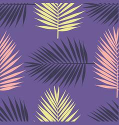 Ultra violet tropical palm leaves seamless vector