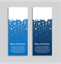 vertical winter banner stickers price tag label vector image