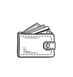 Wallet purse icon vector