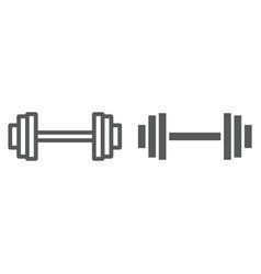 weightlifting line and glyph icon gym and sport vector image