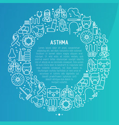World asthma day concept in circle vector