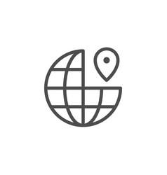 world location line icon vector image