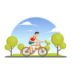 colorful healthy sport lifestyle concept vector image vector image