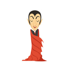count dracula vampire wrapped in a cloak vector image vector image