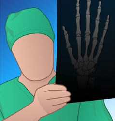 doctor with xray vector image