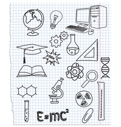 Icons a science vector image vector image