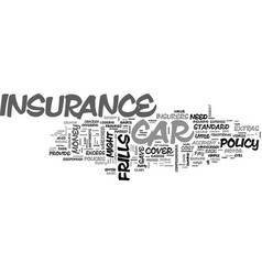 Is no frills car insurance worth the risk text vector