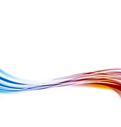 Modern blue to red swoosh wave border abstract vector