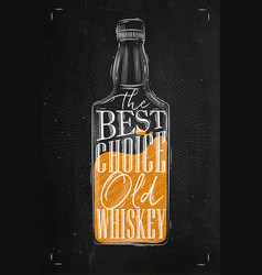 poster whiskey best choice color vector image vector image