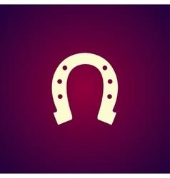 Simple icons horseshoe vector image