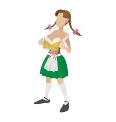 St Patricks Day girl cartoon icon vector image