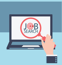 job search vector image vector image
