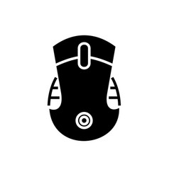 mouse icon black sign o vector image