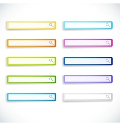 set of color search bars vector image