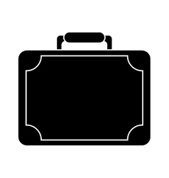 silhouette travel suitcase modern style eqipment vector image