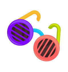 colorful shutter glasses vector image
