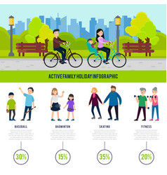 healthy family infographic concept vector image