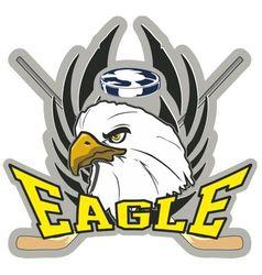 Hockey Eagle vector image vector image