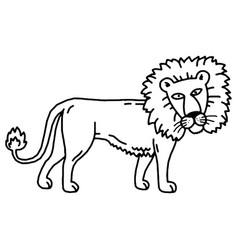 lion cartoon set collection vector image vector image