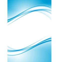 Modern swoosh border folder design template vector image vector image