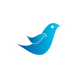Simple Bird 380x400 vector image