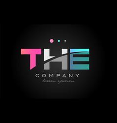 the t h e three letter logo icon design vector image
