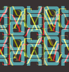 Abstract seamless pattern typography elements vector