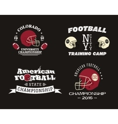 American football championship team training camp vector image