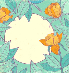 Flower vintage yellow vector image