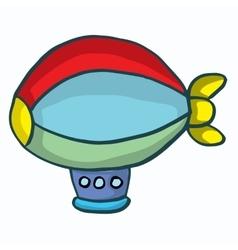 Hot Air Balloon cartoon design for kids vector image