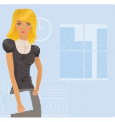 office blonde vector image