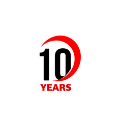 10th anniversary abstract logo ten happy vector image