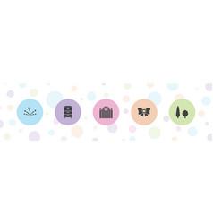 5 decor icons vector