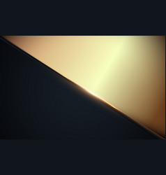 Abstract triangle luxury gold and dark blue vector