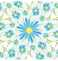 abstract vintage seamless flower pattern vector image