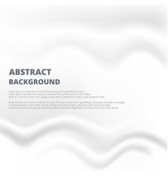 Abstraction of white paper with smoogh crease and vector