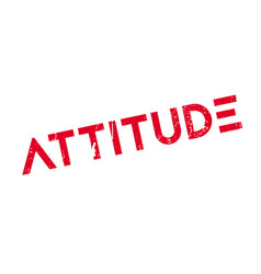 Attitude rubber stamp vector
