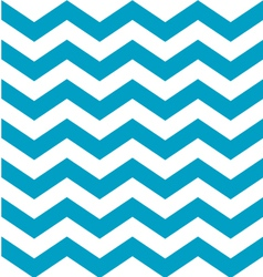 Beautiful aqua blue and white chevron pattern vector