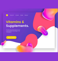 Bright and juicy landing page template for sites vector