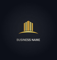 Building abstract business logo vector