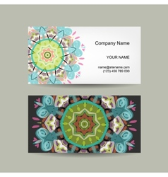Business card design Ornate background vector