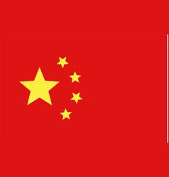 chinese flag national symbol fo china vector image