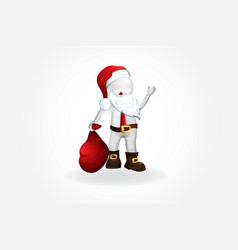 Christmas santa claus -3d small white people vector