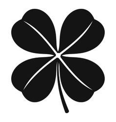 Clover leaf icon simple style vector image