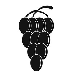 Cluster grape icon simple style vector