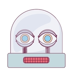 colorful robot design vector image